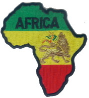 Patch Ecusson rasta Africa Lion